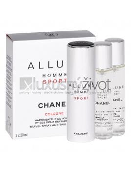 Chanel Allure Homme Sport Cologne, Kolínska voda 3x20ml, Twist and Spray