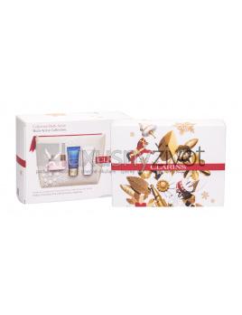 Clarins Multi-Active, denná pleťová starostlivosť 50 ml + nočná pleťová starostlivosť 15 ml + balzam na pleť Beauty Flash 15 ml + kozmetická taštička